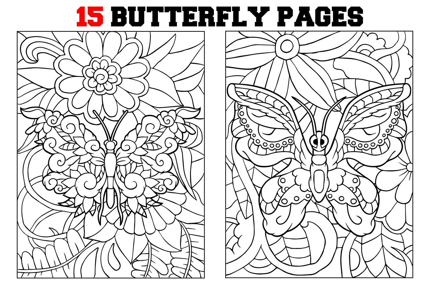 Coloring Pages For Kids 15 Butterfly Coloring Pages
