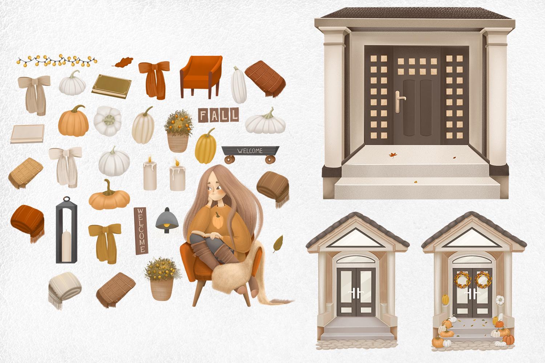 Cozy autumn clipart example image 9
