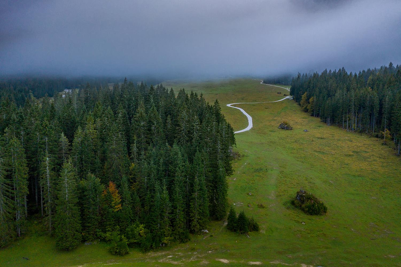 Fusine lake in a foggy mood example image 1