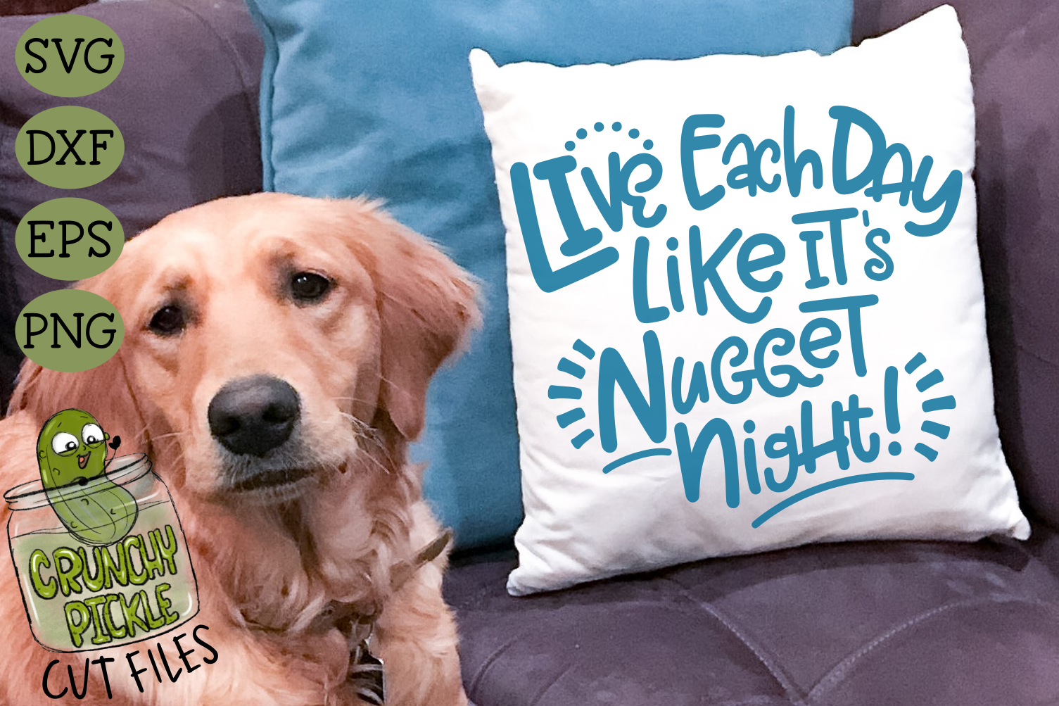 Live Each Day Like It's Nugget Night SVG Cut File example image 4