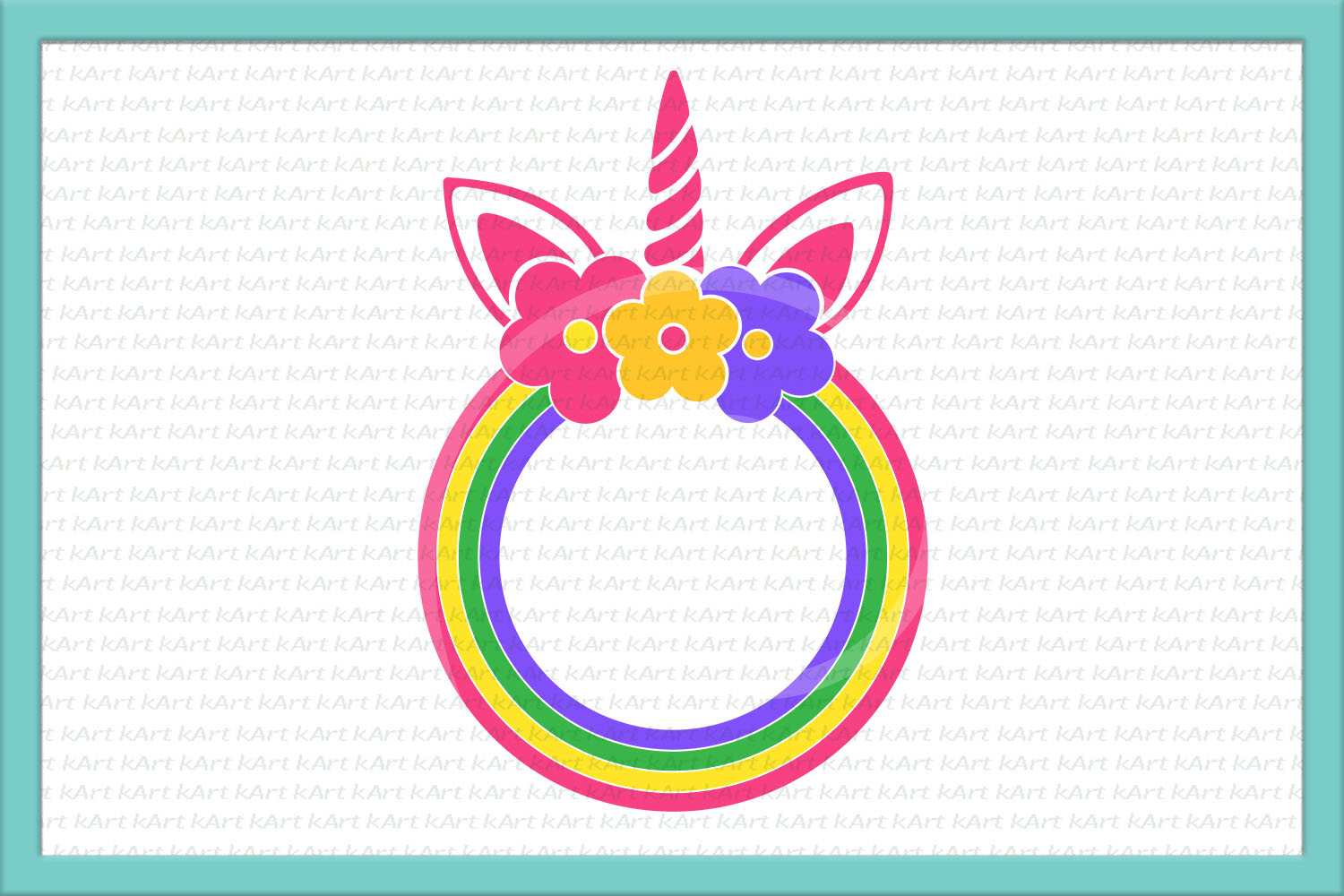 Unicorn face horn girl bundle svg dxf cutting files clipart example image 9