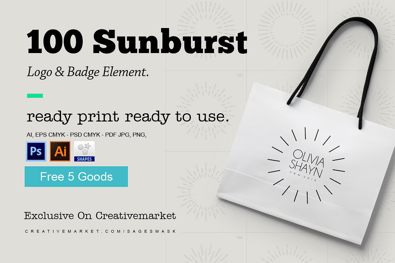 Sunburst Logo & Badge Element example image 1