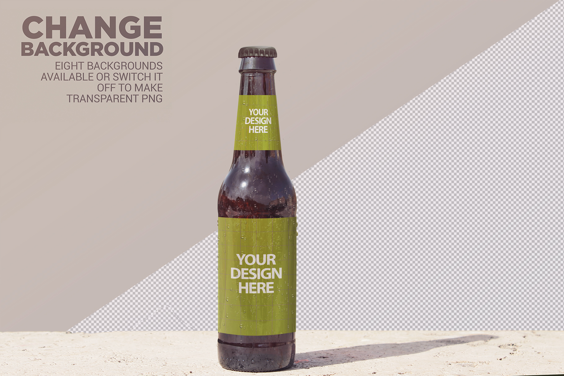 Front Backgrounds Beer Mockup example image 6