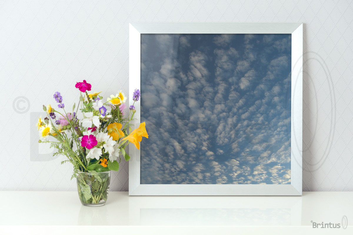 Frame mockup - clean bright interior summer field flowers example image 6
