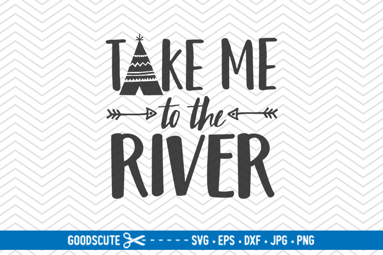 Take Me to the River - SVG DXF example image 1