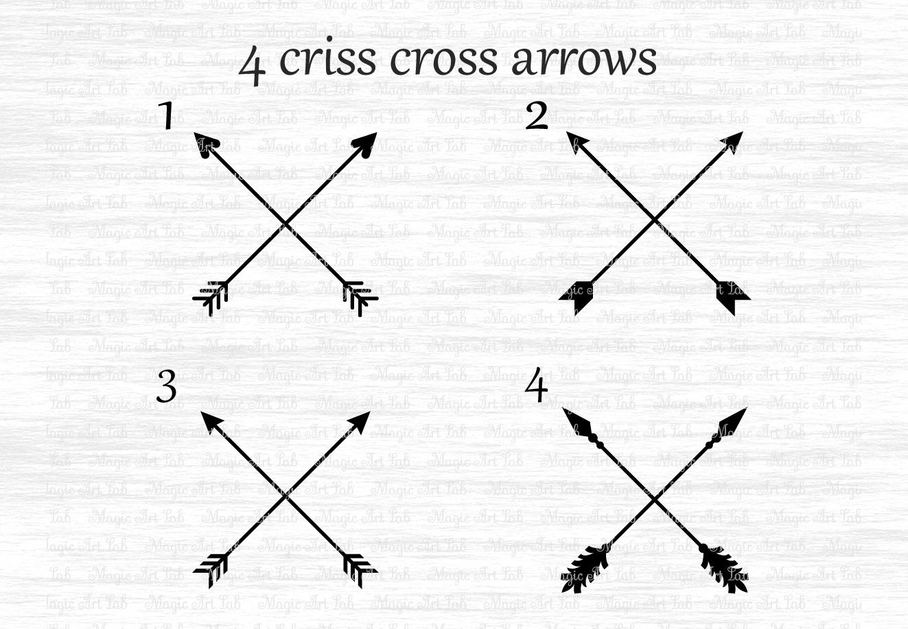 Arrows svg, Circle monogram svg, Circle frame arrow, Heart frame, Criss cross arrows, Tribal arrows svg, Boho arrows clipart, Ethnic aztec example image 3
