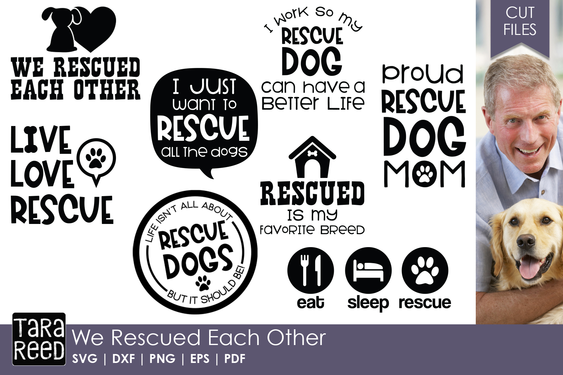 Rescue Dog MEGA Bundle - Rescue Dog SVG Files for Crafters example image 3