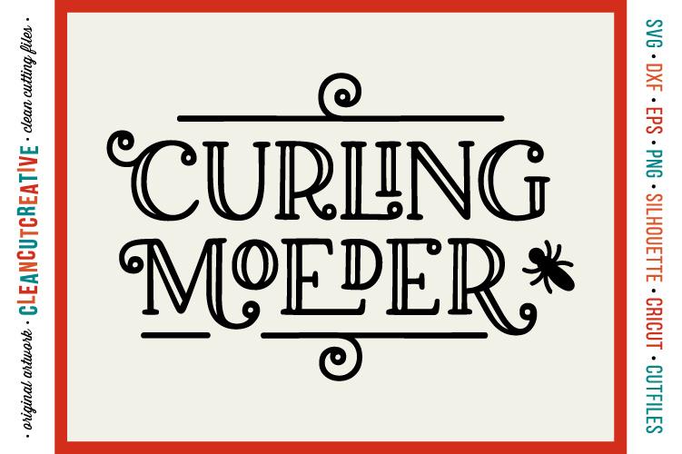 Curling Moeder met commerciele licensie - funny dutch meme example image 1