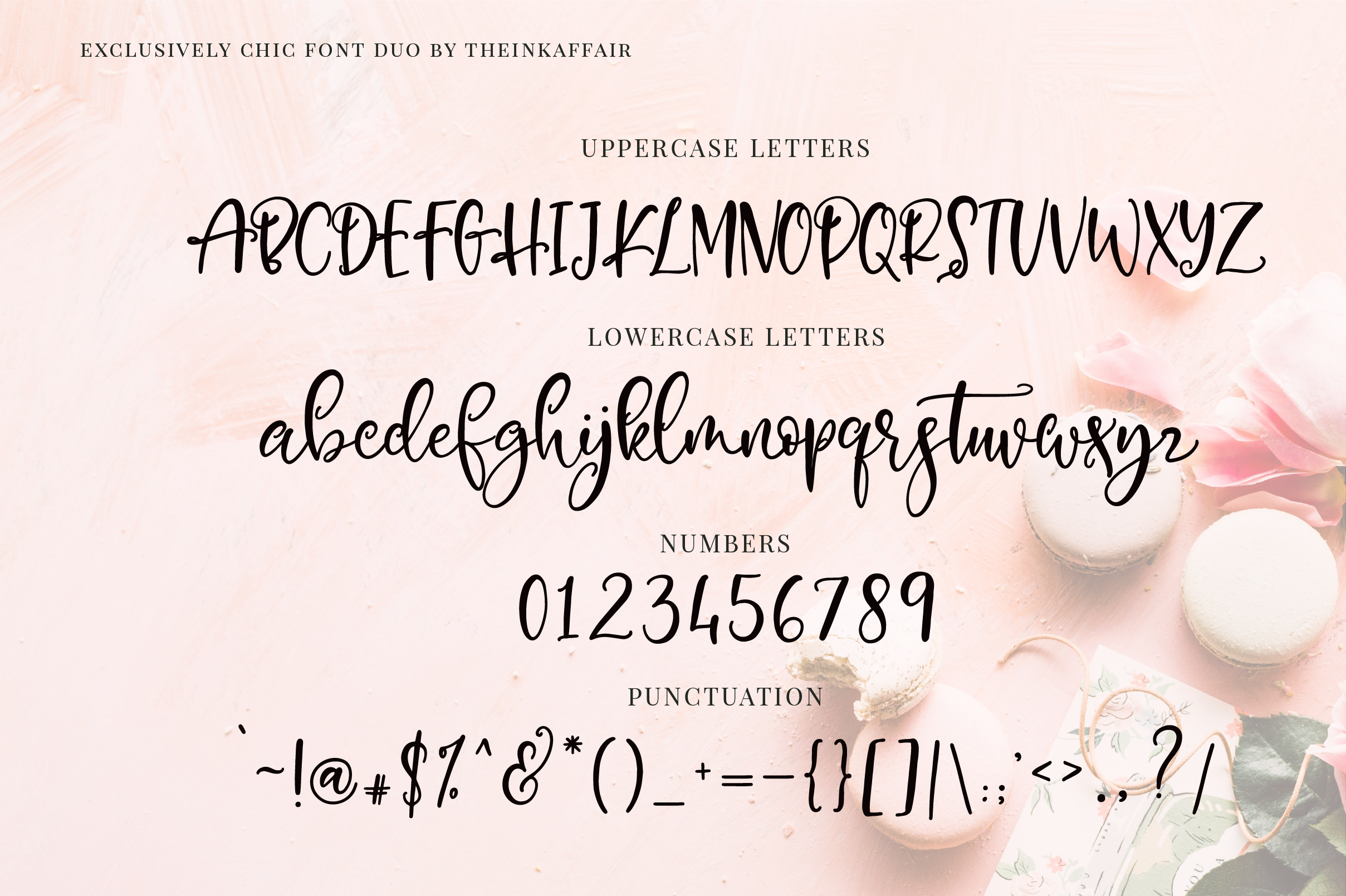 Exclusively Chic Font Duo example image 10