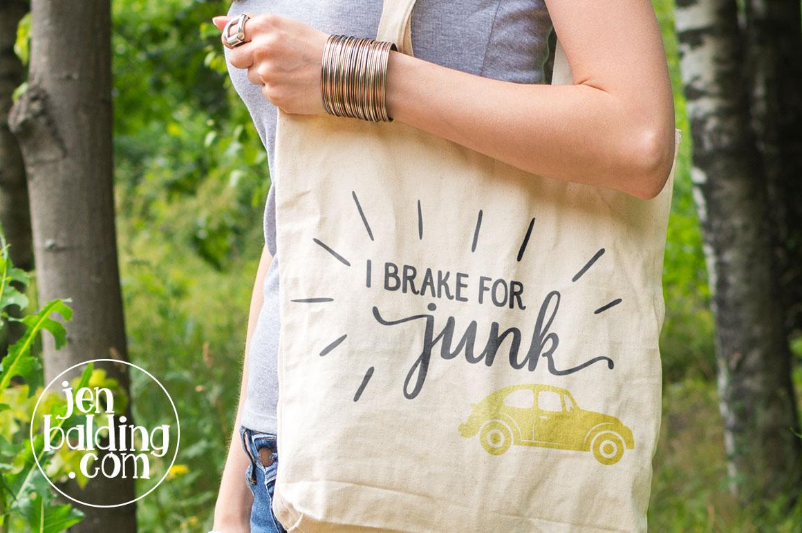I Brake for Junk SVG example image 2