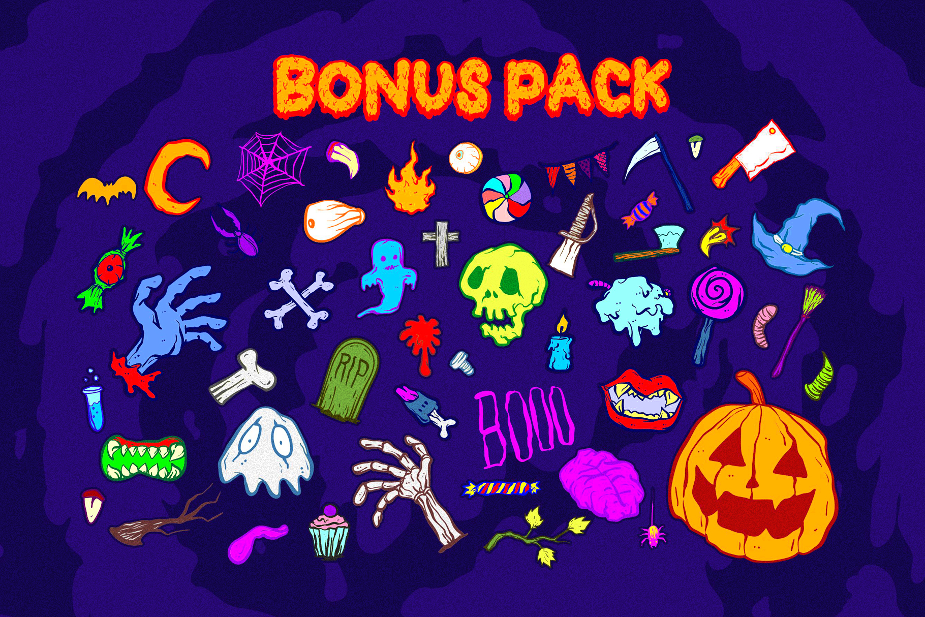 Dead Slime 6 Fonts | Extras 50 Illustrations example image 3