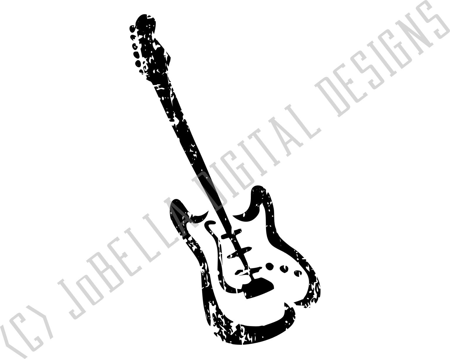 Fender Guitar SVG, Sublimation and Printable Design example image 3