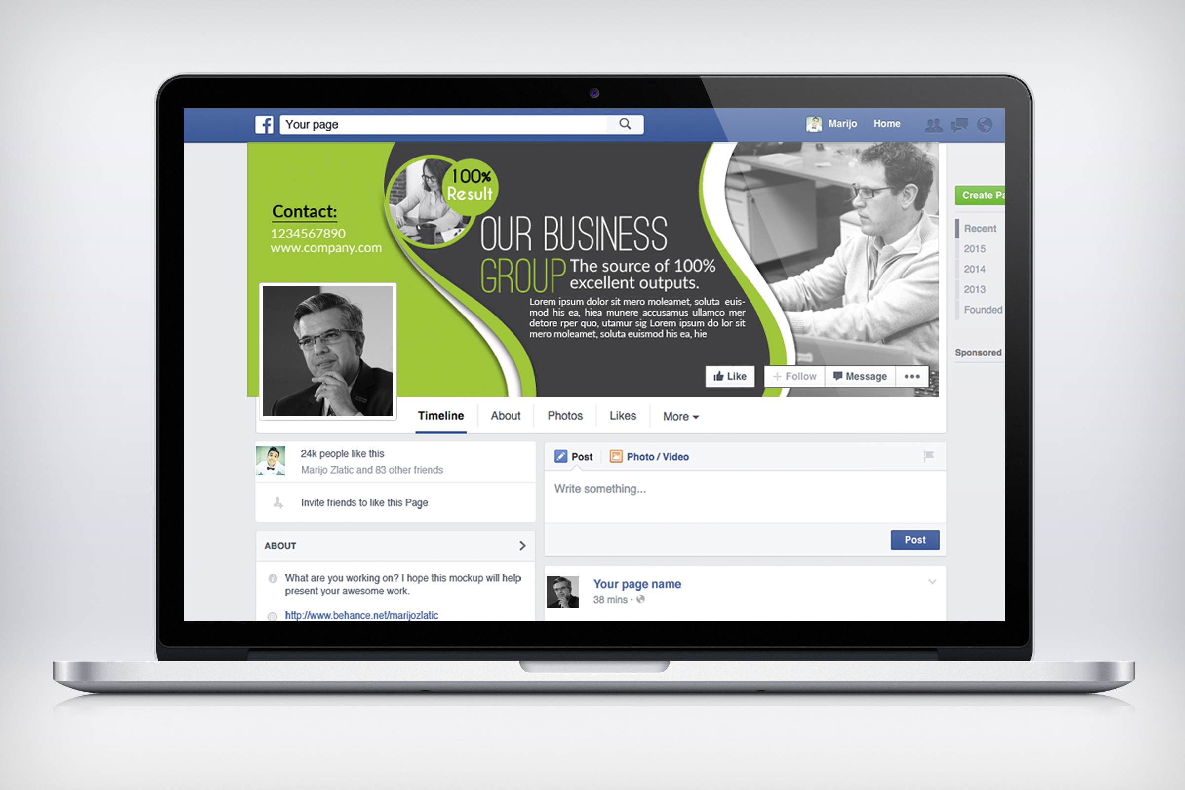 Business Facebook Timelines 04 example image 3