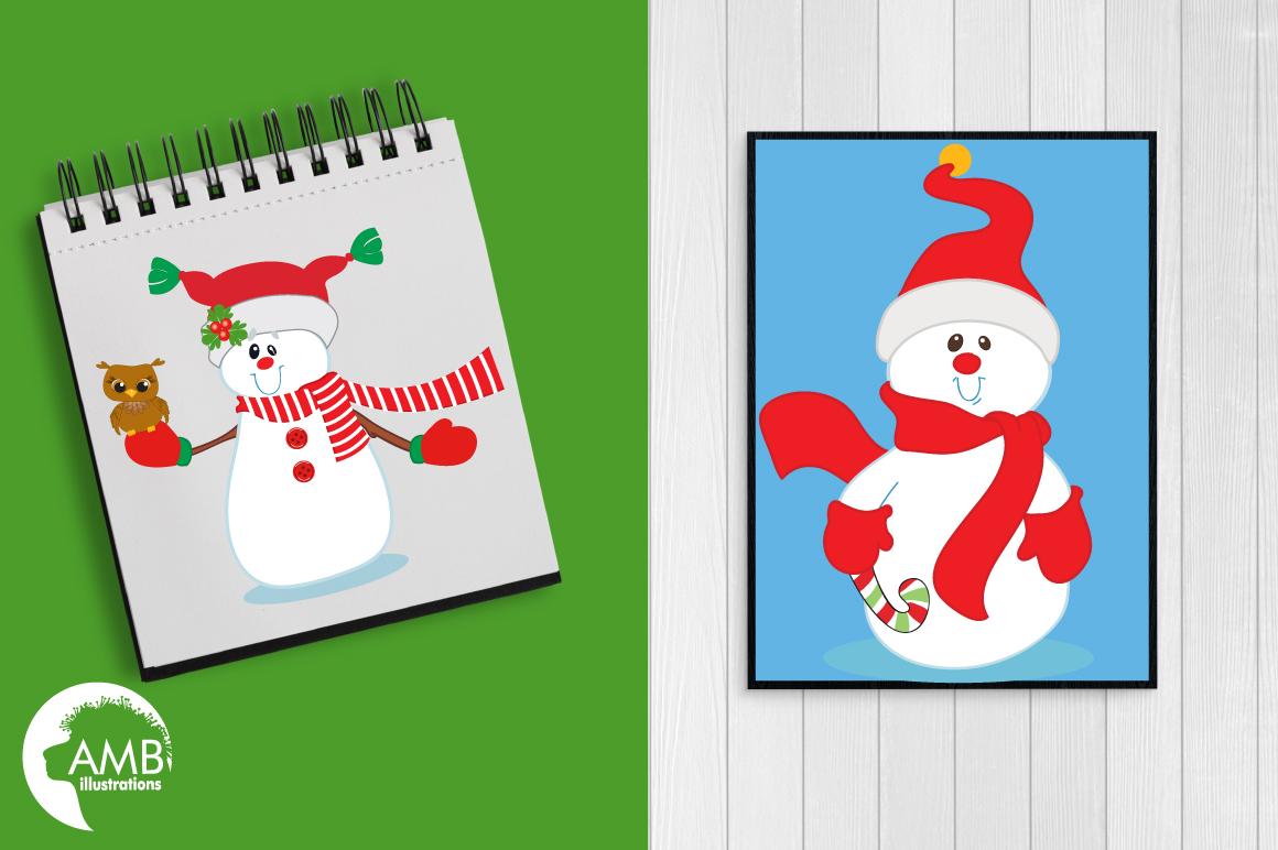 Happy Snowmen clipart, graphics, illustrations AMB-503 example image 4