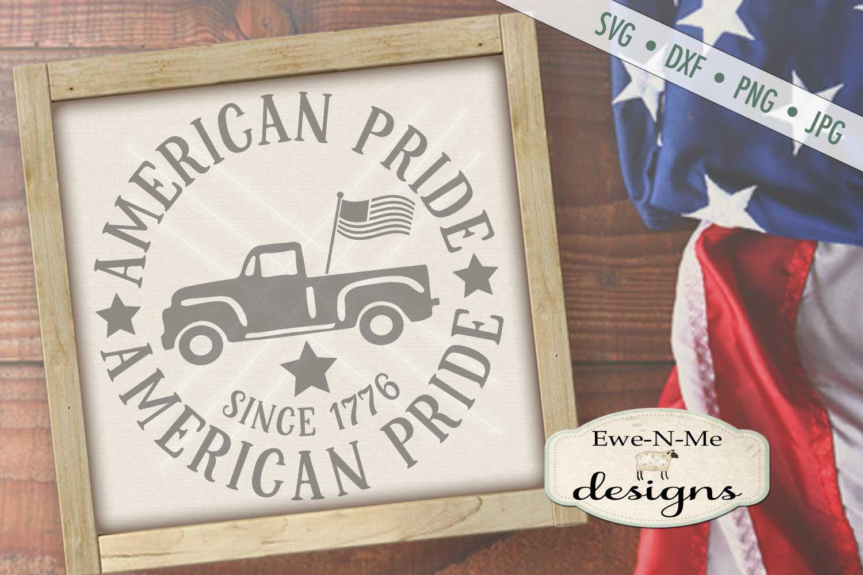 American Pride Vintage Truck SVG DXF Files example image 1