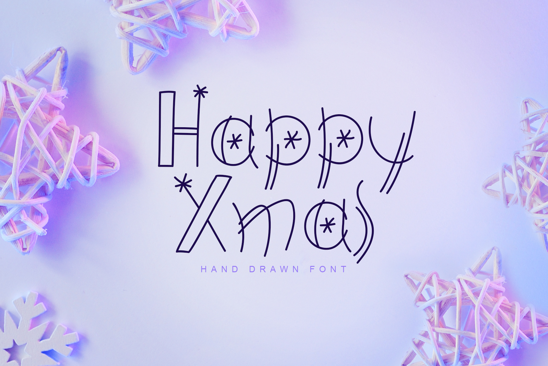 Happy Xmas Hand Drawn Font example image 1