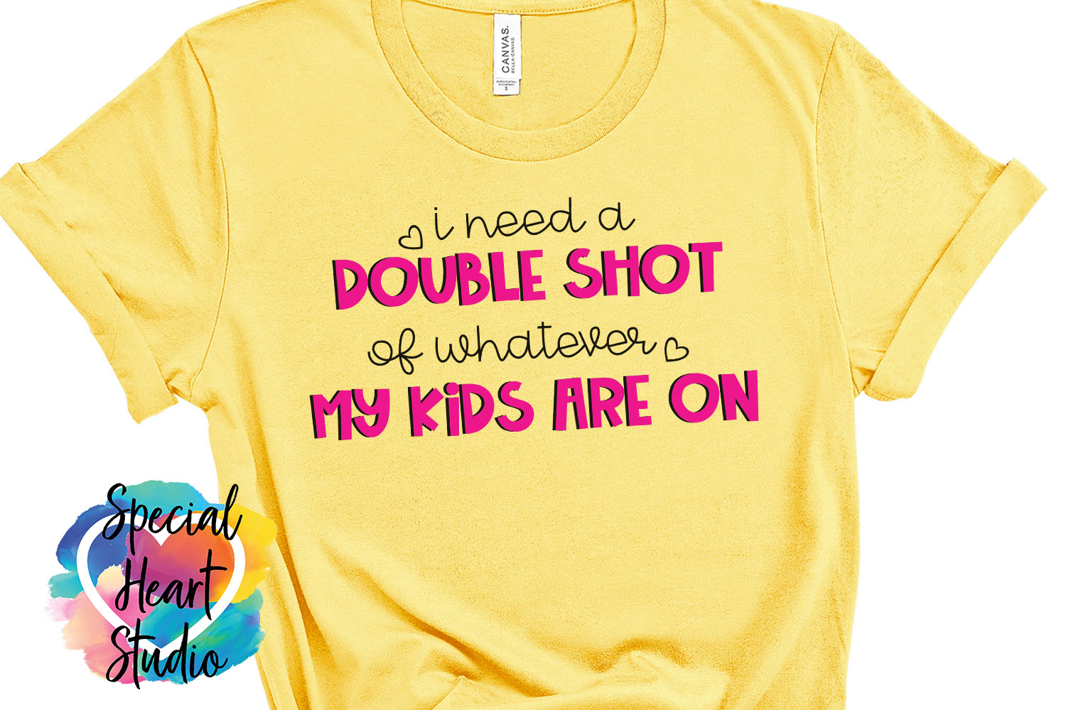 I need a double shot of whatever my kids - A funny Mom SVG example image 1