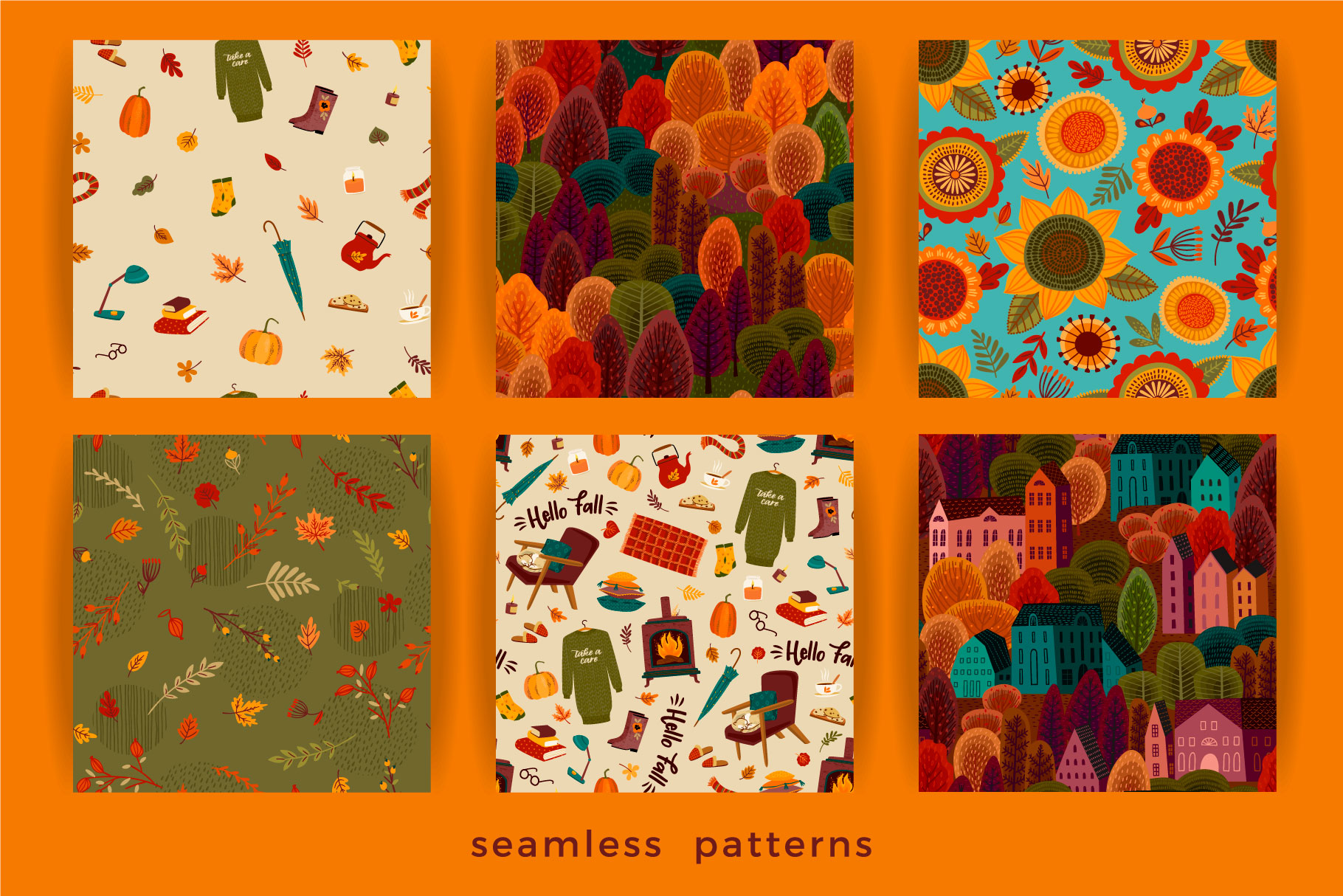 Autumn collection. Cards & patterns. example image 6