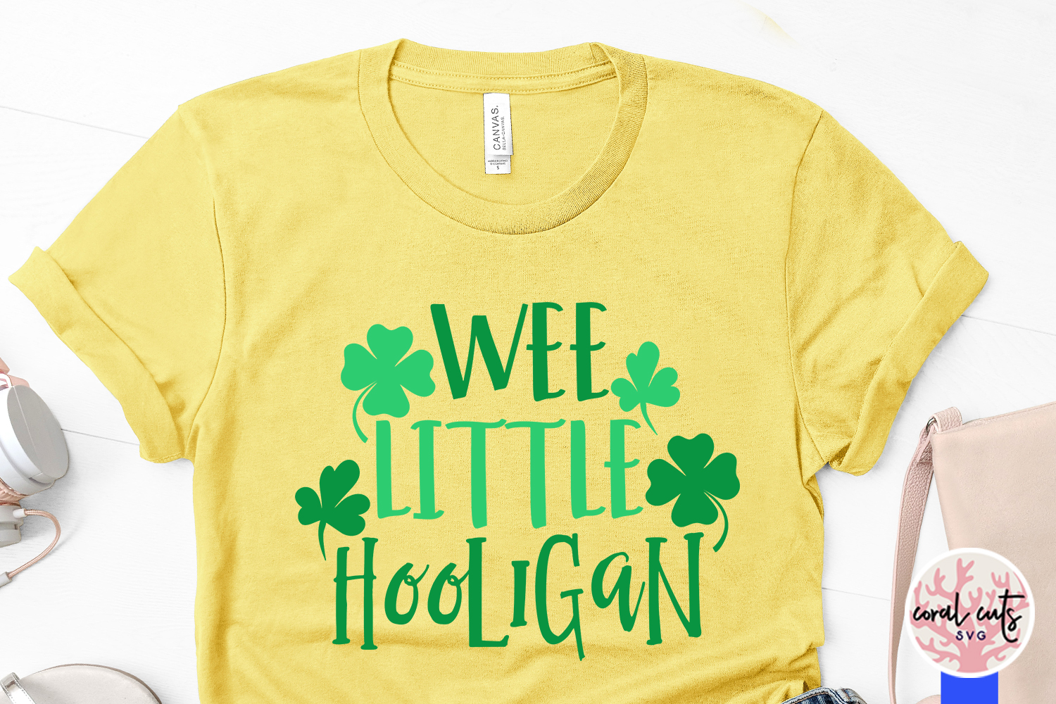 Wee little hooligan - St. Patrick's Day SVG EPS DXF PNG example image 3