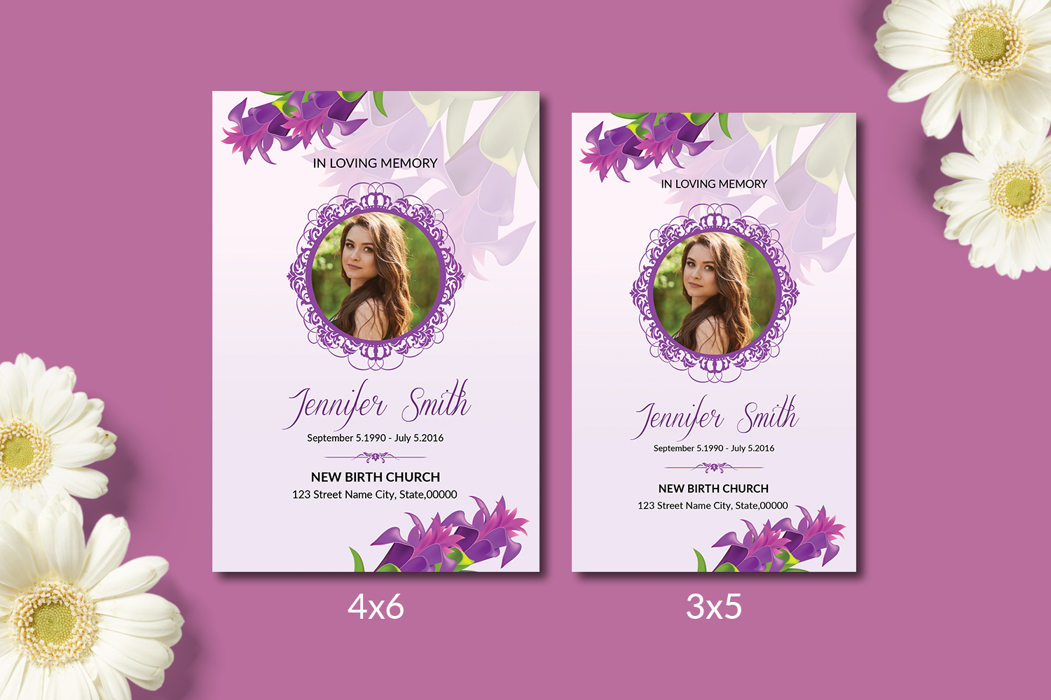 Funeral Prayer Card Template example image 1