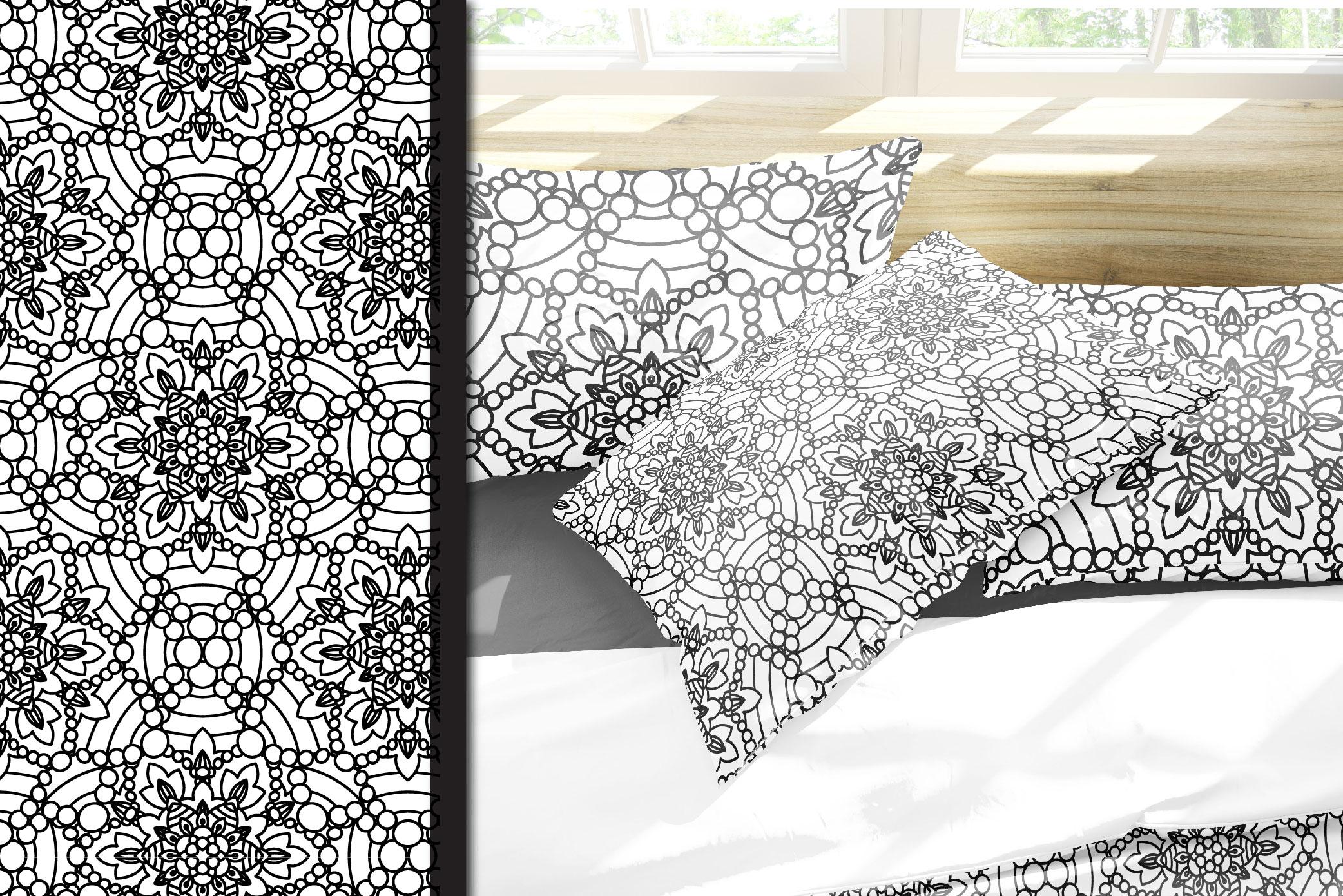 100 Mandalas Seamless Patterns example image 20