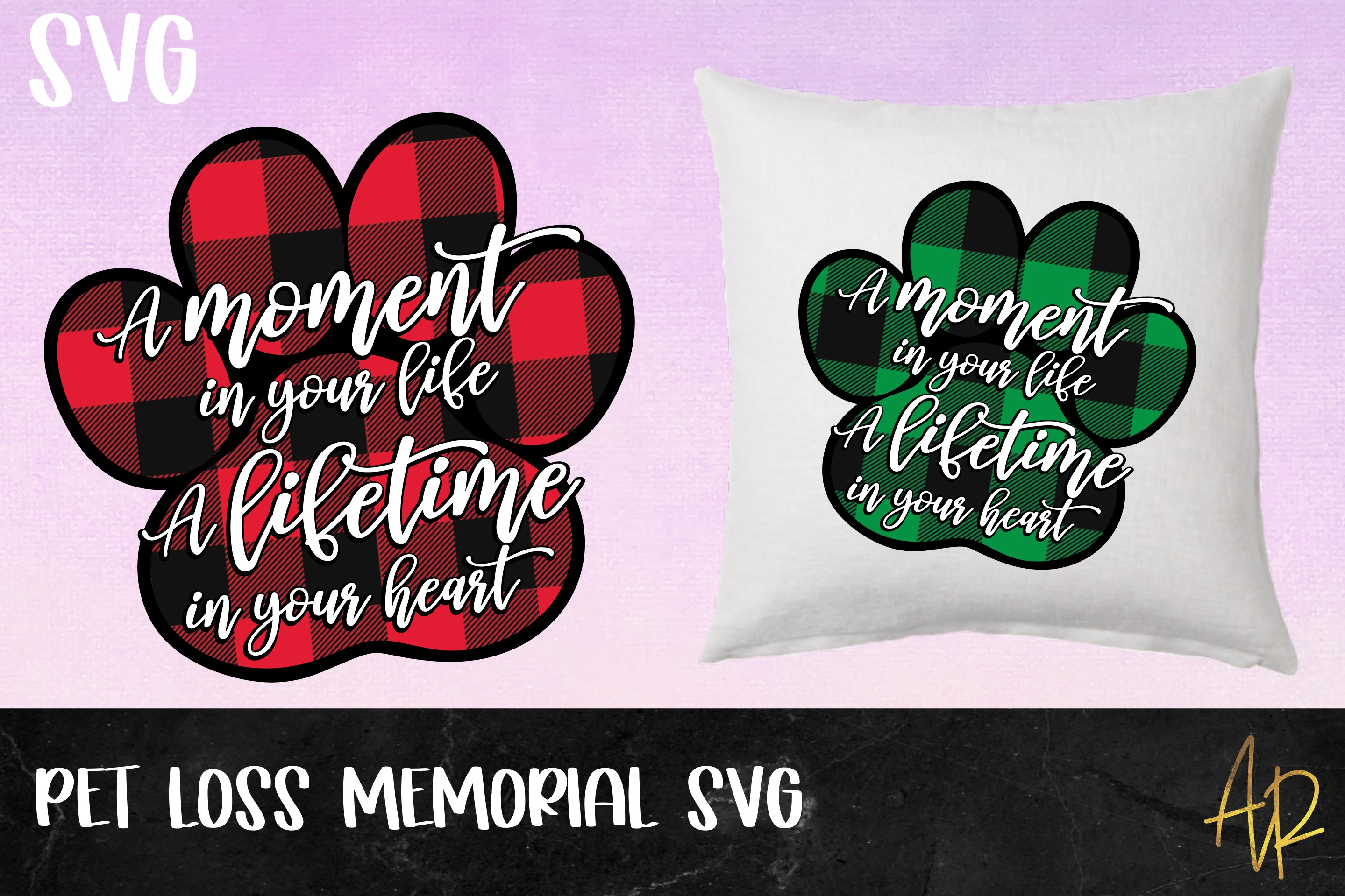 A moment in your life|Pet loss memorial SVG|Cat Dog example image 1