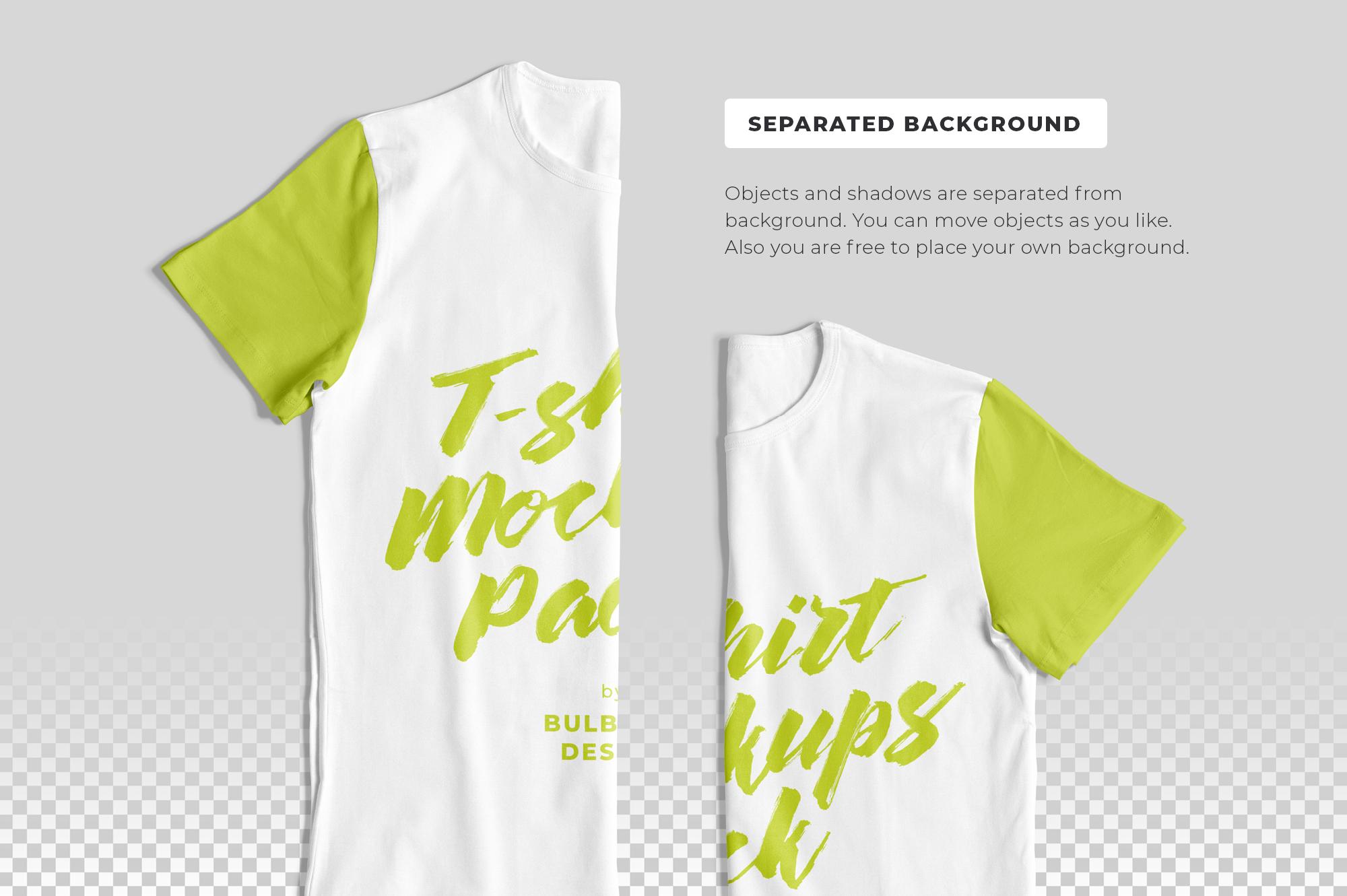 Customizable T-Shirt Mockups Pack example image 7