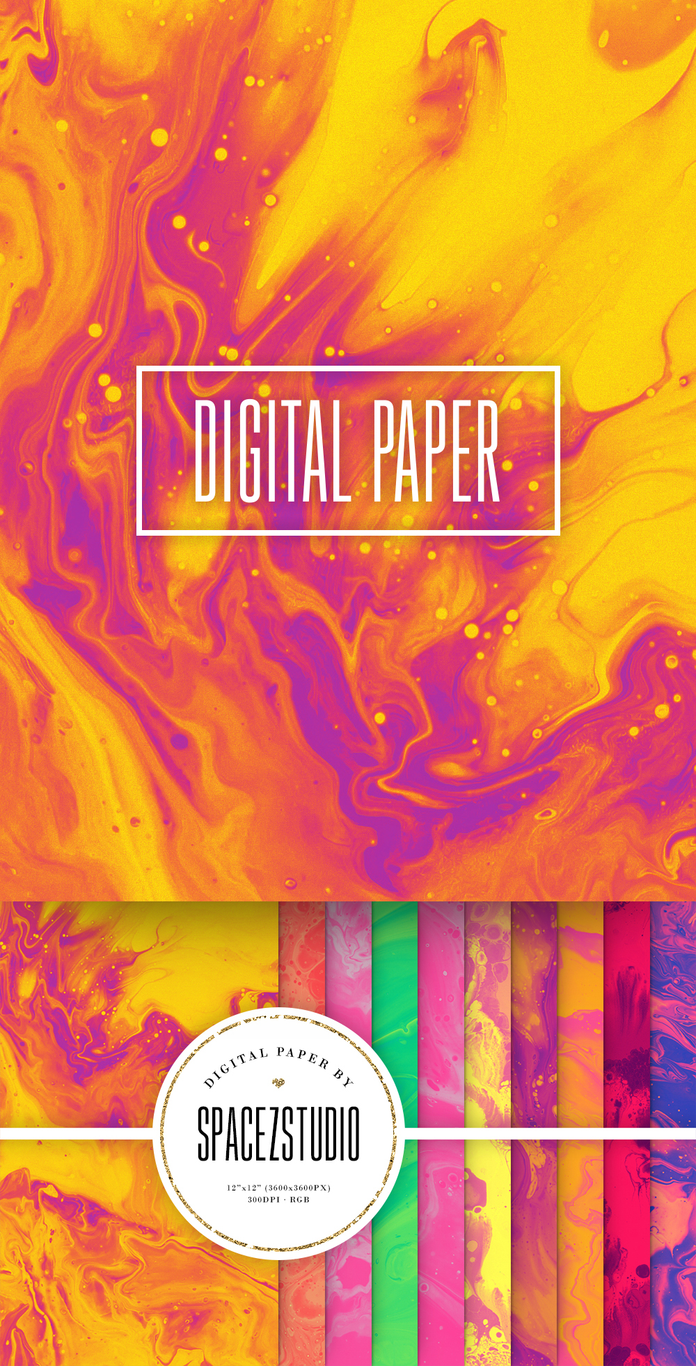Colorful Liquid Ink Backgrounds - Wet Paint Digital Paper example image 6