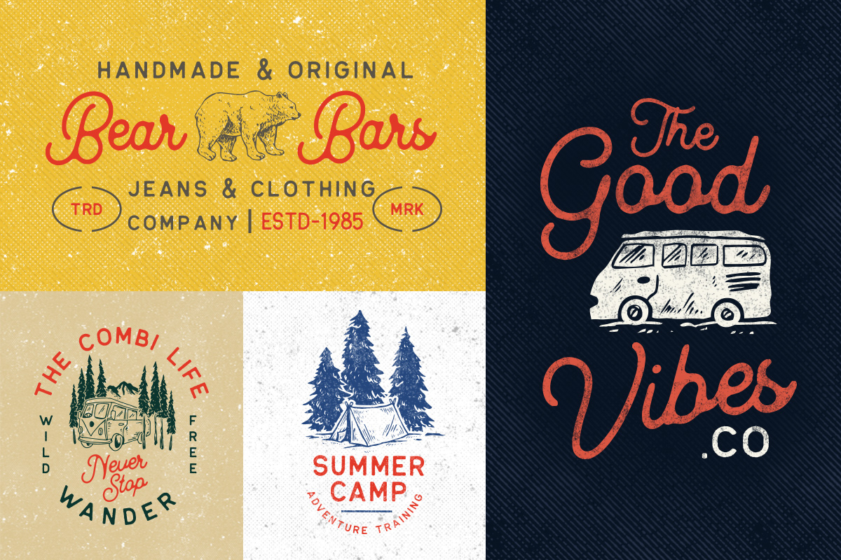 OUTDOOR Logo Creator Bonus 2 Fonts example image 5