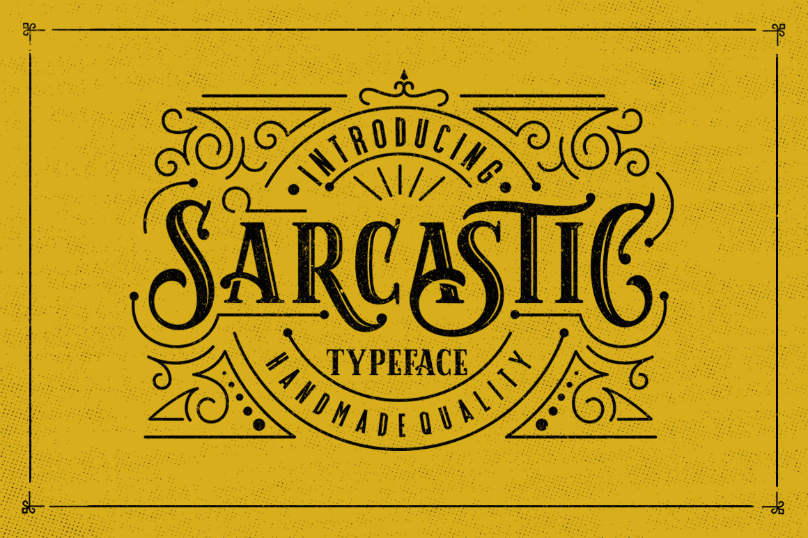Sarcastic Typeface + Extras example image 1