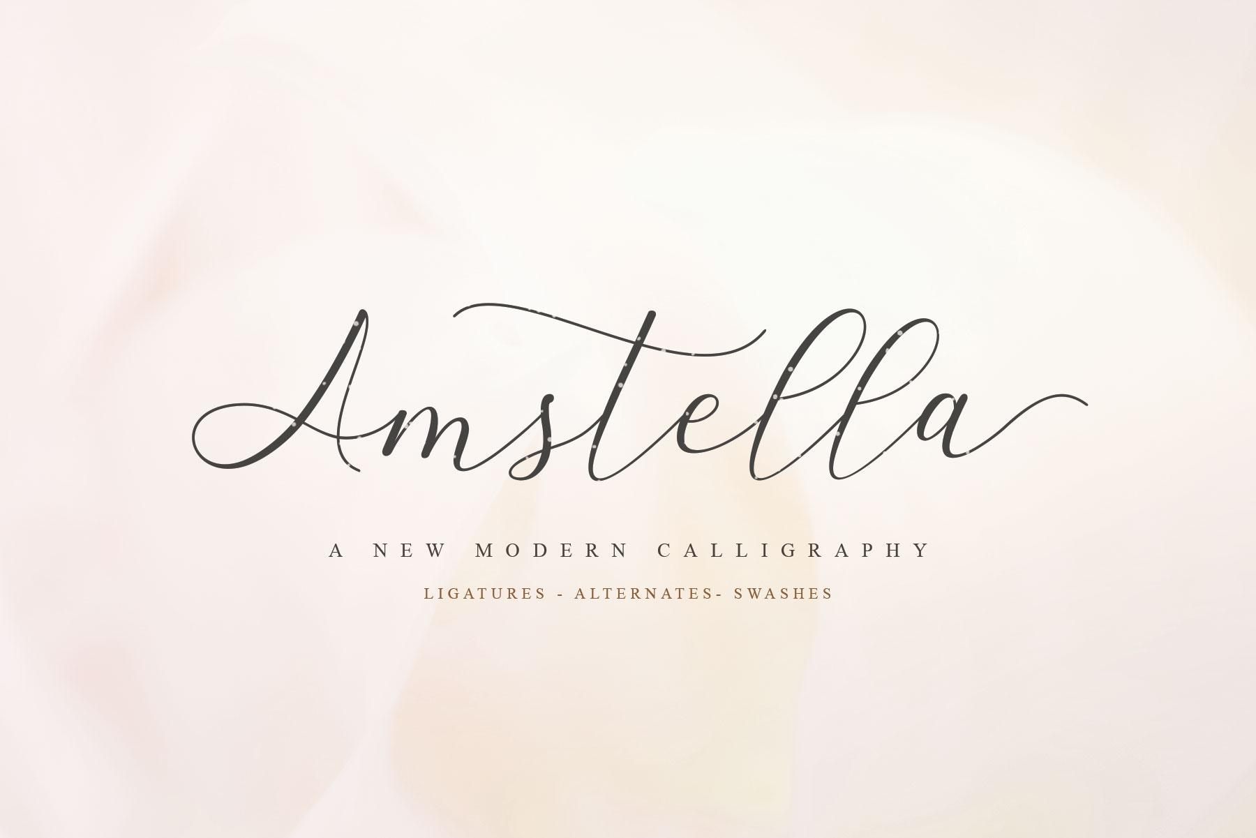 Amstella Modern Calligraphy example image 1