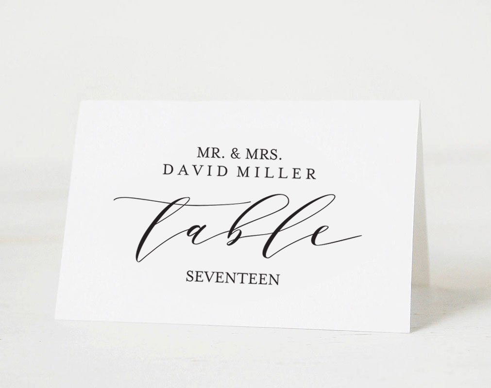 Place Card template example image 2