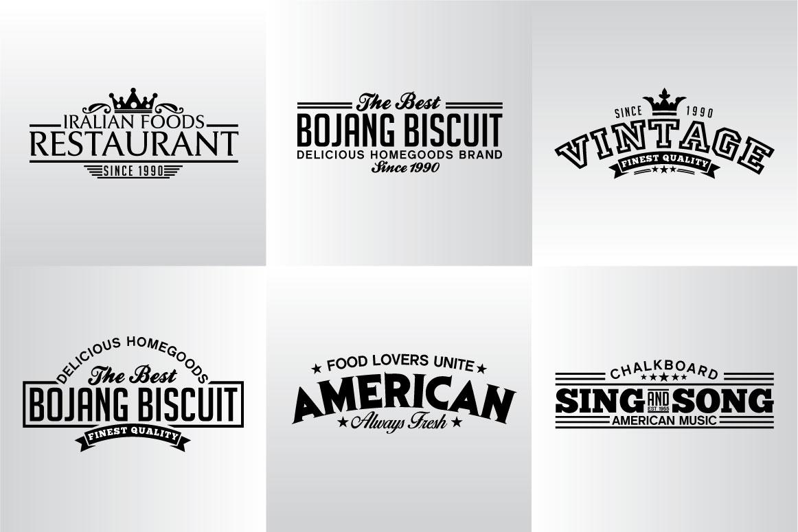 60 Vintage Bundle Logos Labels & Badges example image 12