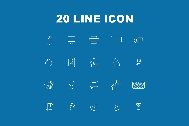 20 Line Icon example image 2