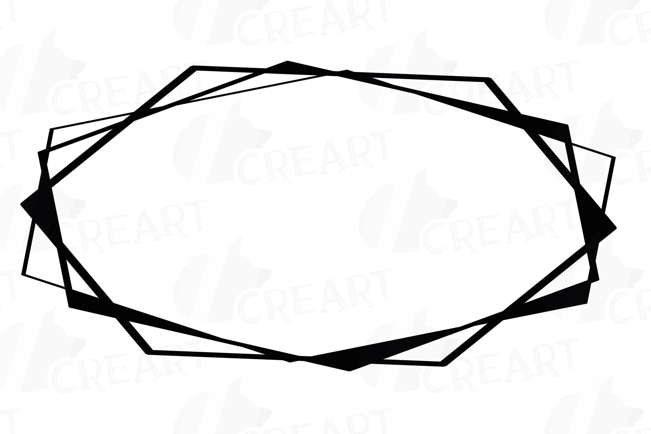 Chaotic geometric black frames, lineal frames clip art example image 9