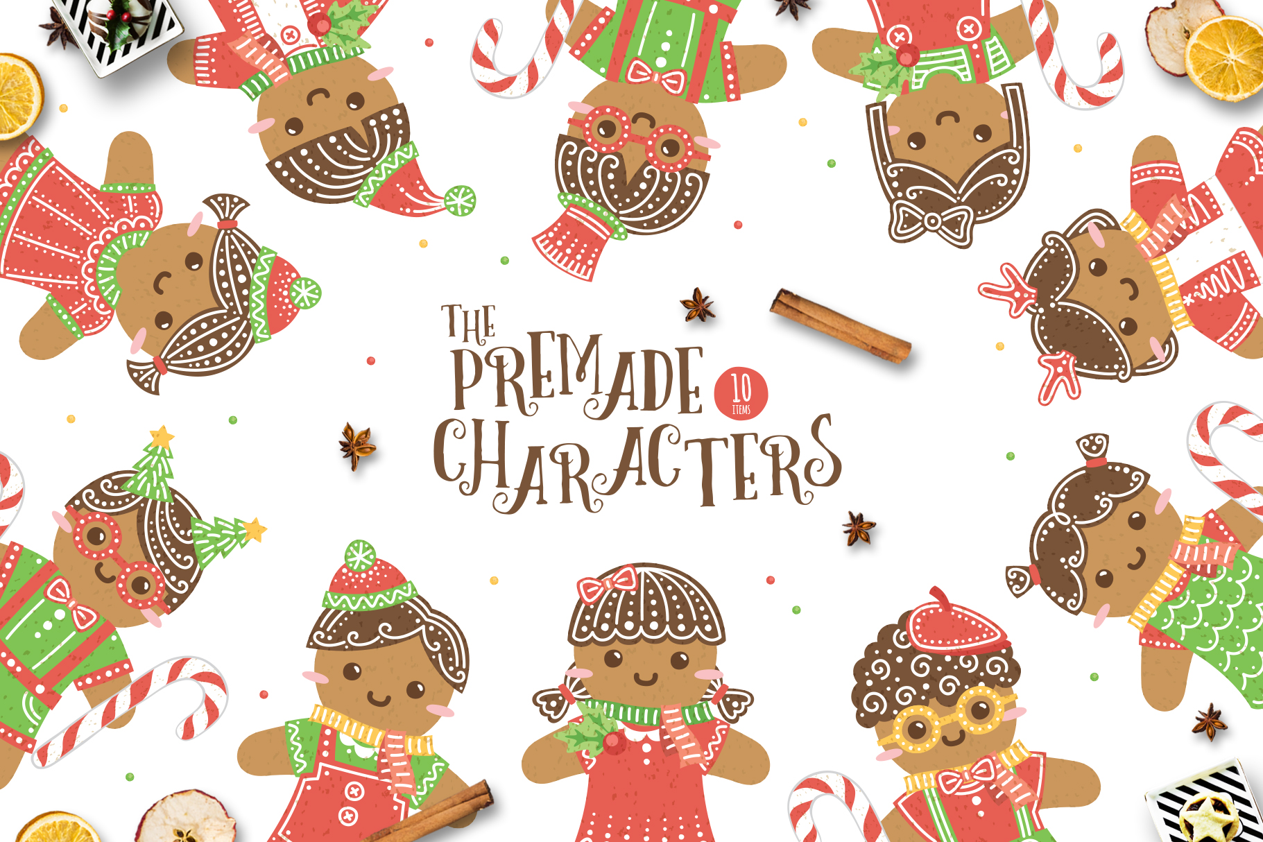 Gingerbread Boys and Girls - Christmas Character Creator example image 5