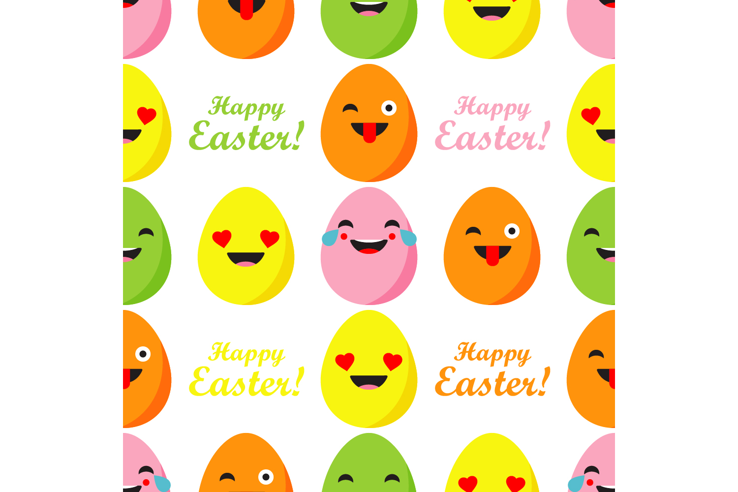 Easter ornament. Set of 7 seamless patterns. example image 4