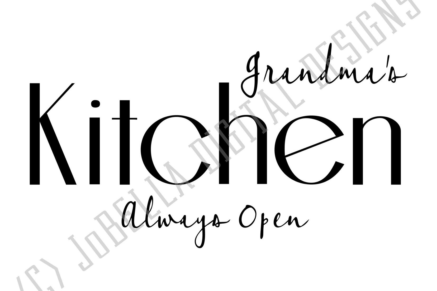 Grandmas Kitchen SVG and Printable Farmhouse Design example image 2
