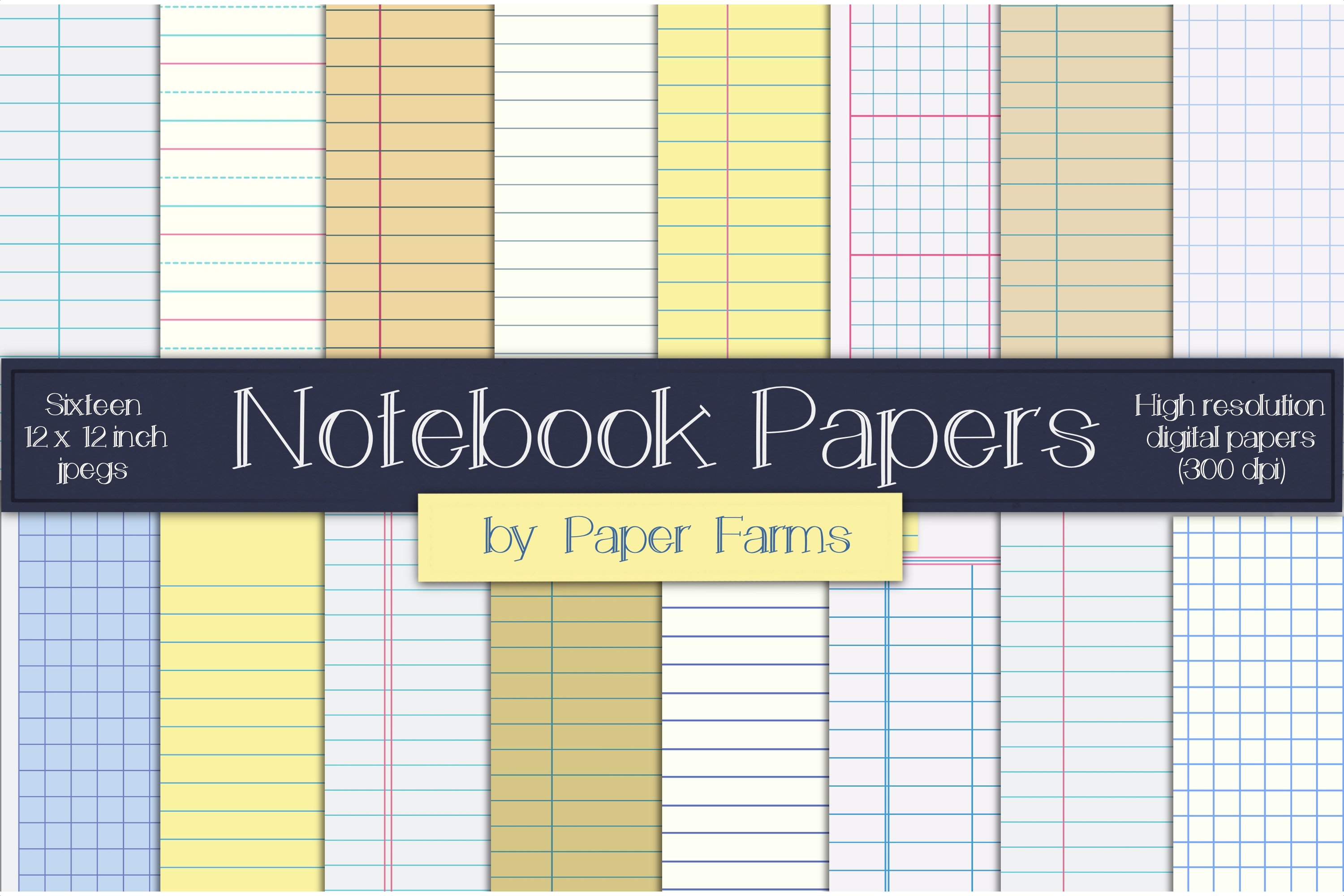 Notebook digital paper example image 1