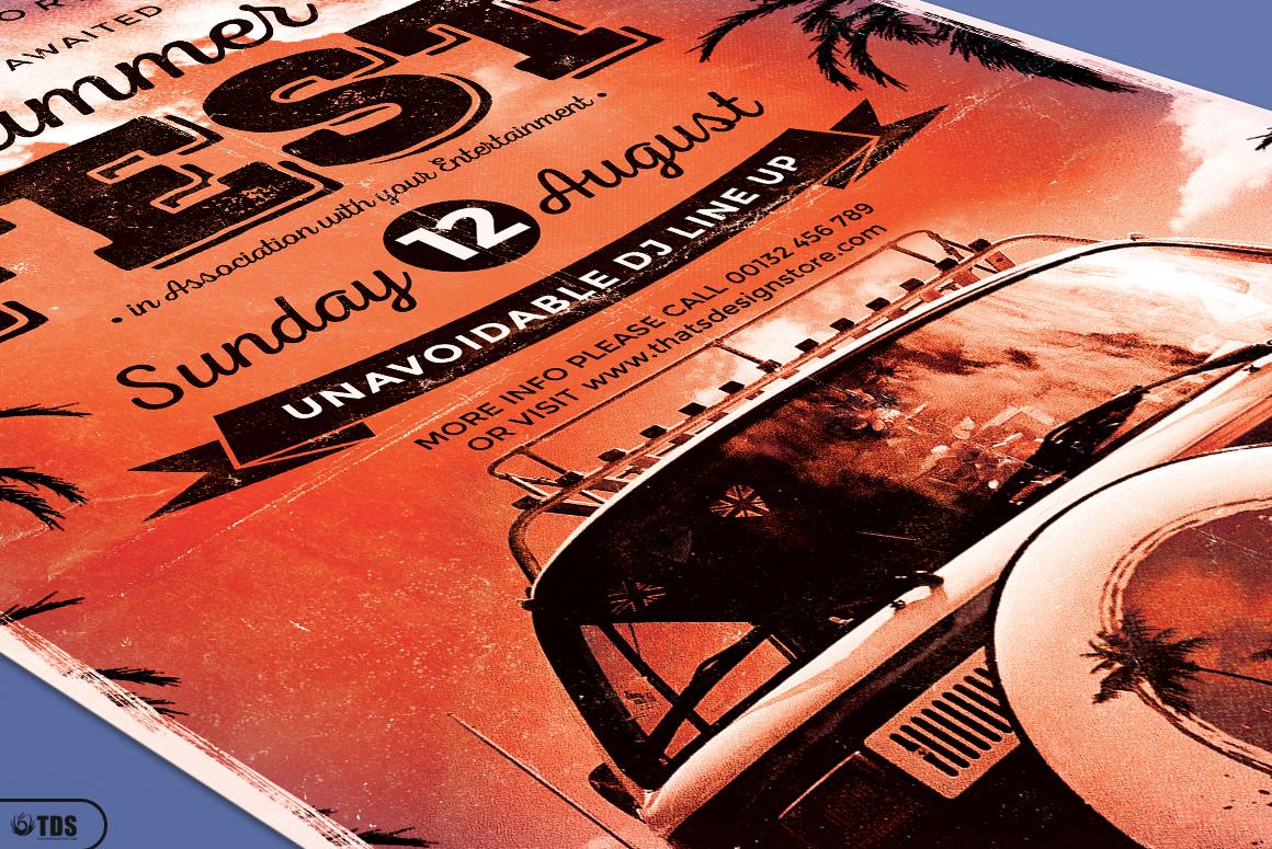 Summer Fest Flyer Template V2 example image 5
