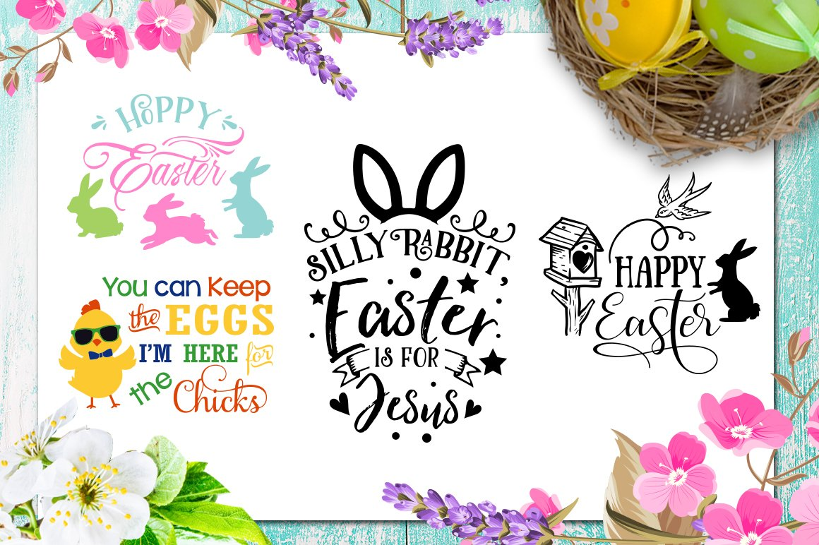 Easter Bundle - 30 Easter SVG files Bundle Easter SVG file example image 7
