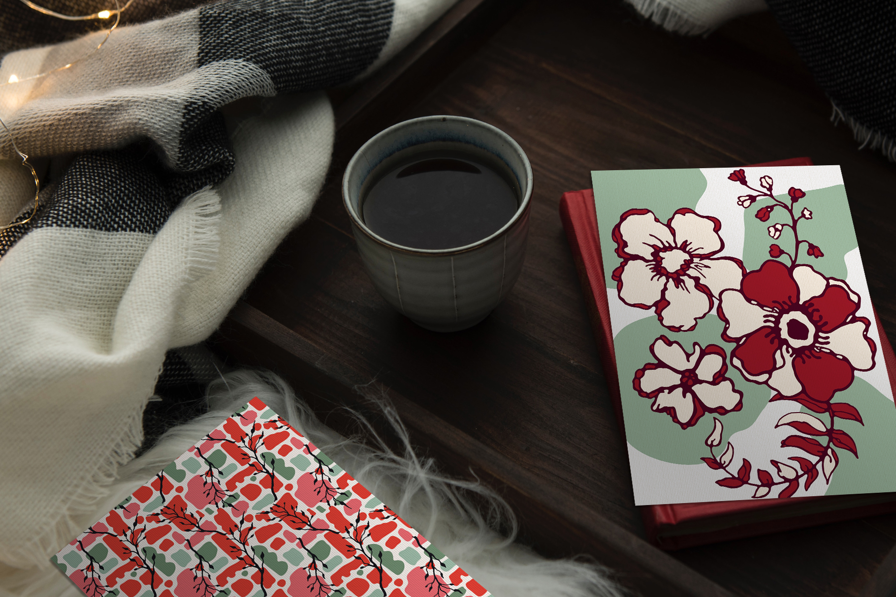Winter Floral Patterns & Illustrations example image 25