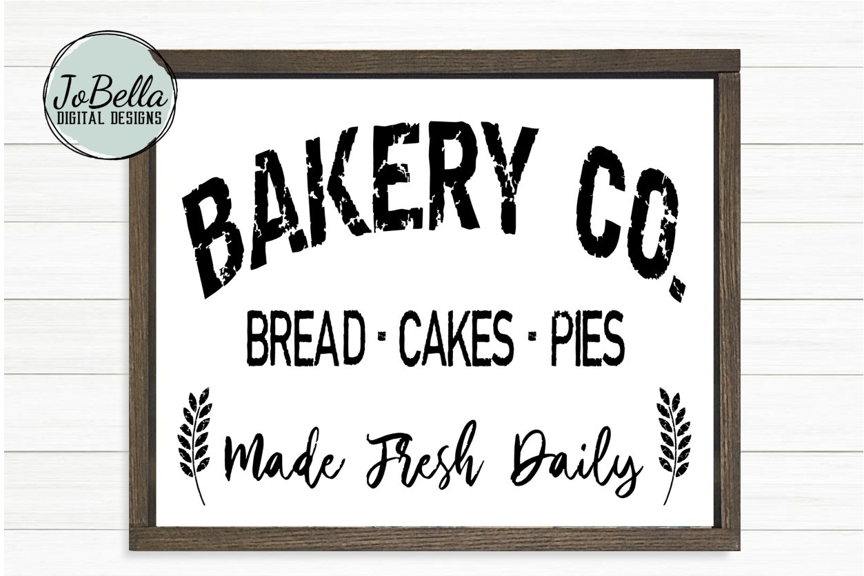 Bakery SVG and Printable - Distressed Farmhouse Design example image 1