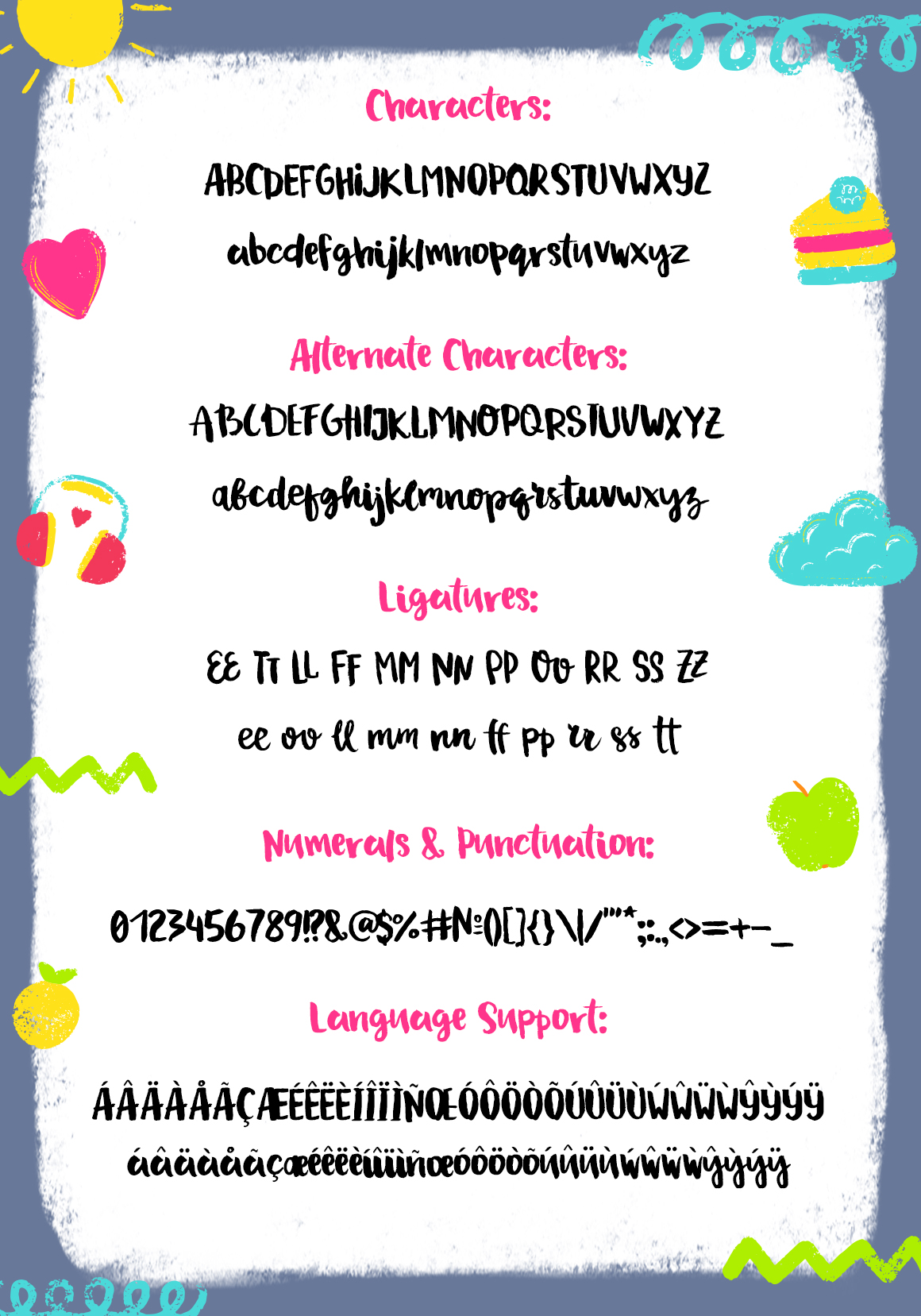 Drawing a Life - Brush Font example image 2