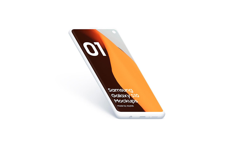 Samsung S10 - 21 Clay Mockups - 5K - PSD example image 15