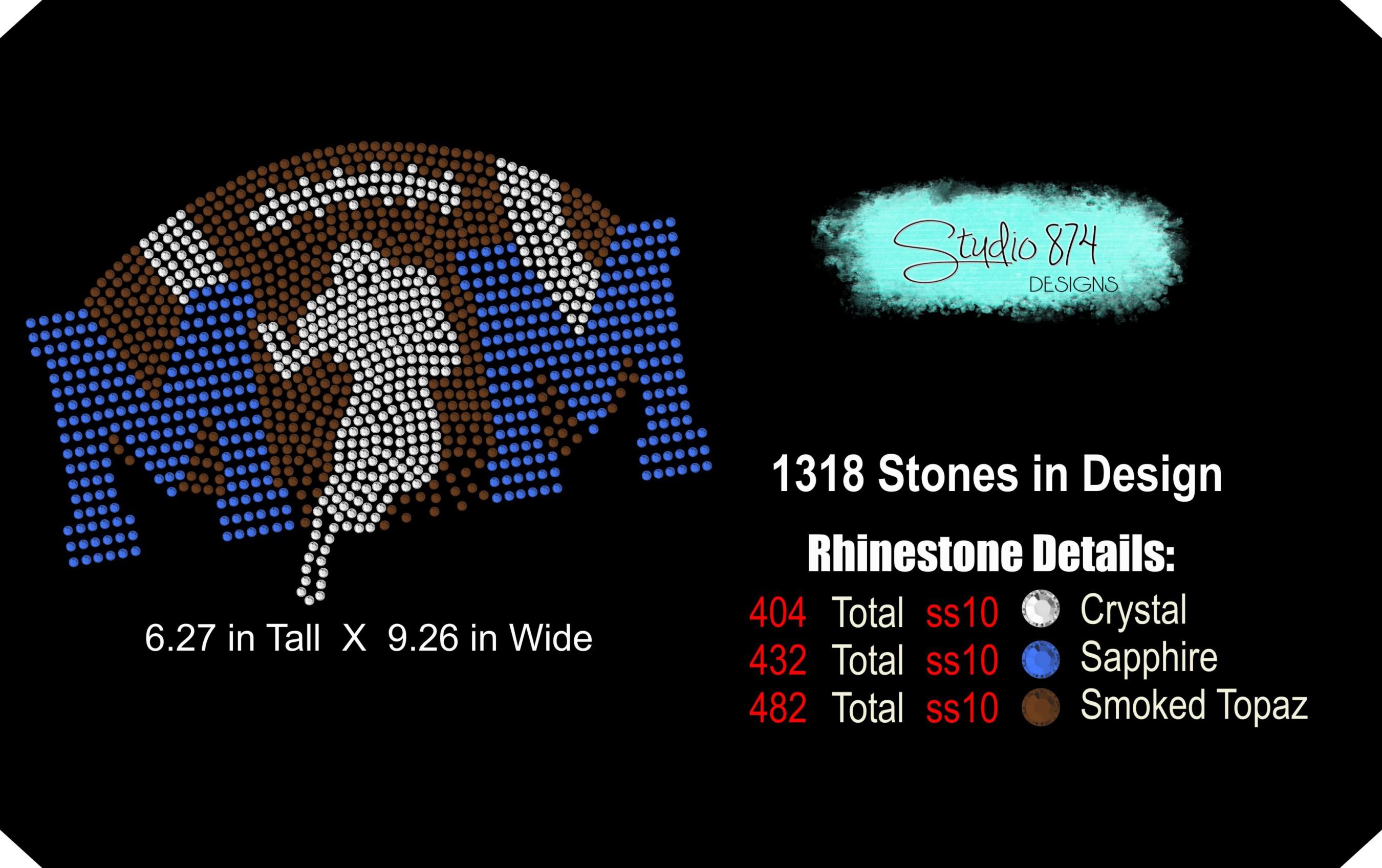 Football Mom Rhinestone Template Digital Download example image 2
