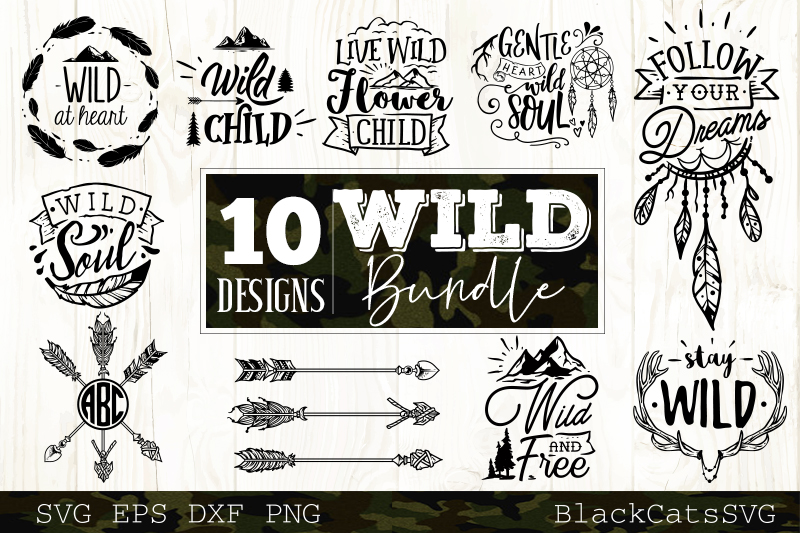 Wild SVG bundle 10 designs Boho SVG bundle vol 1 example image 1