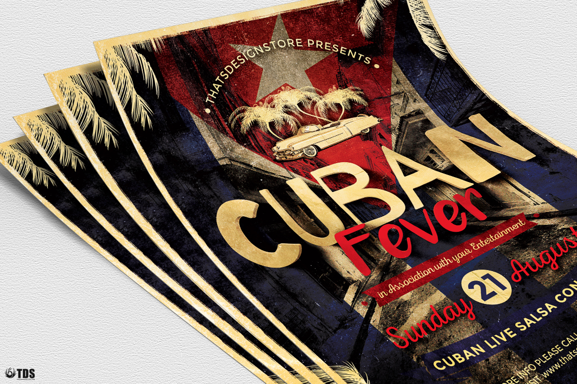 Cuban Fever Flyer Template example image 5