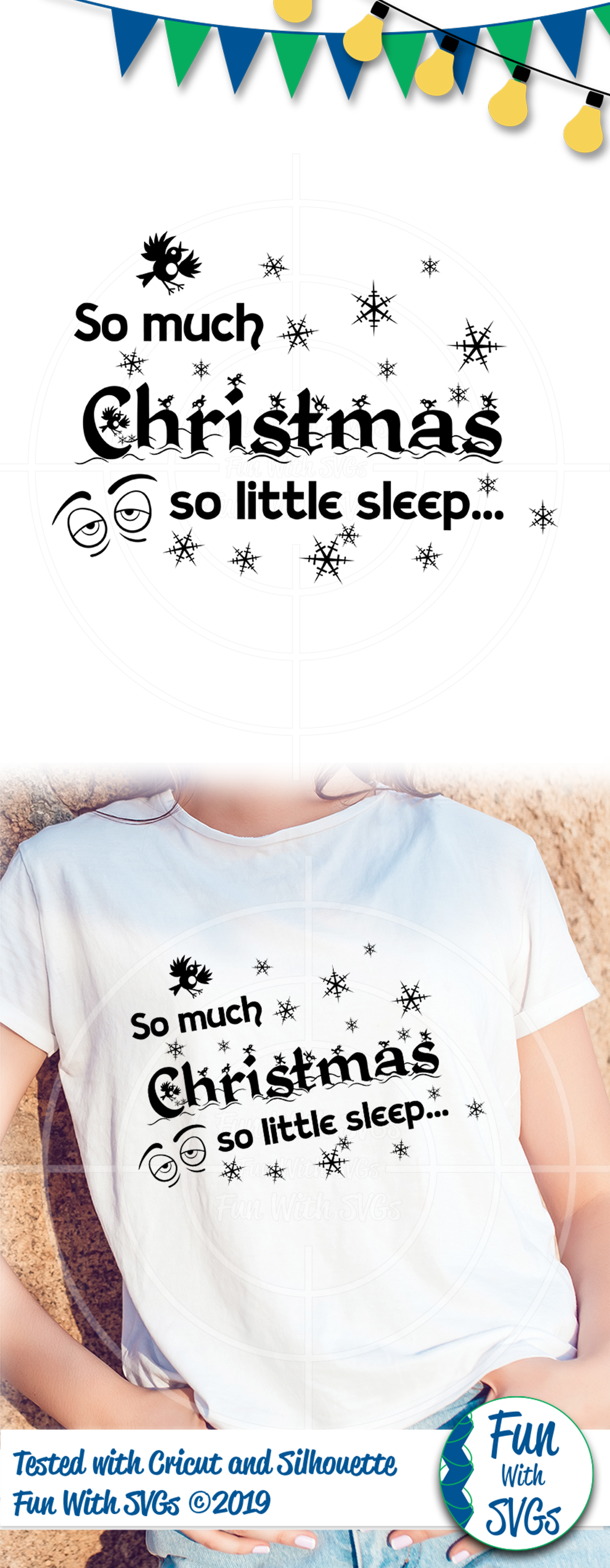 SVG So Much Christmas Vector, Cut File, Clip Art FWS390 example image 2