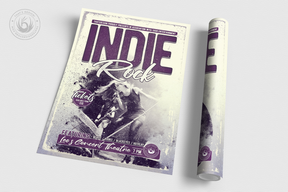 Indie Rock Flyer Template V3 example image 3